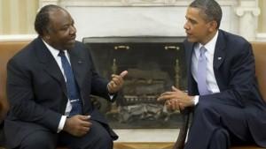 Le président du Gabon, Ali Bongo et son homologue américain Barack Obama
