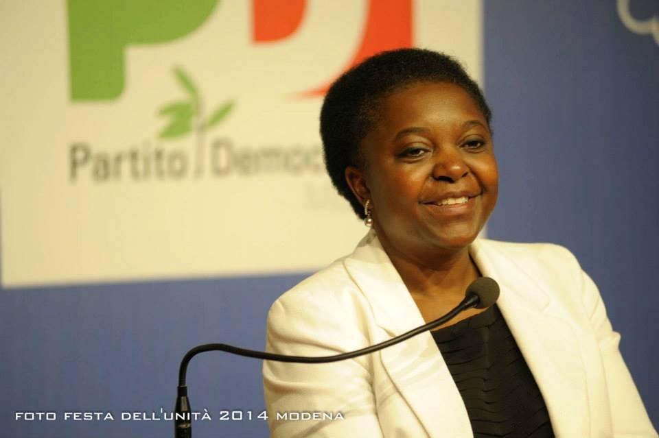 La première femme ministre italienne d'origine africaine, Cécile Kyenge Kashetu