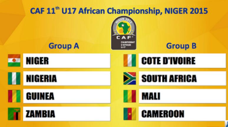 CAN U17 2015 du 15 février au 1er mars au Niger