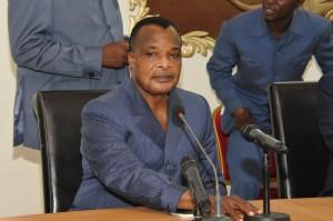 Le président du Congo-Brazzaville Denis Sassou N'guesso