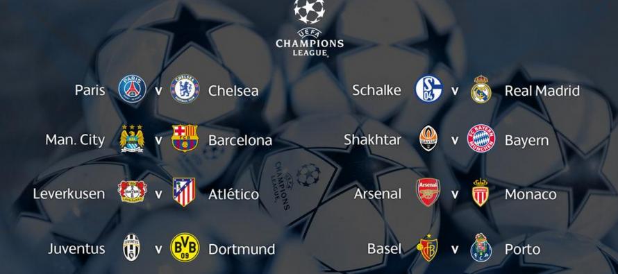 Voici les 1/8 de finale de la Ligue des champions de l'UEFA
