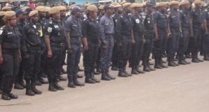 Image d'archive|Les policiers congolais