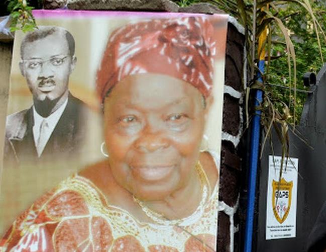 Pauline Opango, veuve du héros national%2G Patrice Emery Lumumba