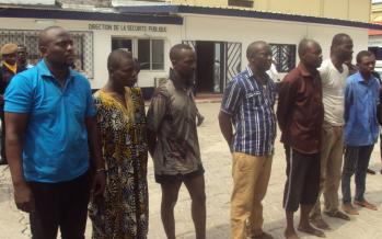 7 braqueurs nigérians arrêtés par la police à Brazzaville