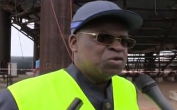 Pointe-Noire: André Raphaël Loemba visite le chantier d'installation du terminal de stockage de GPL S.A
