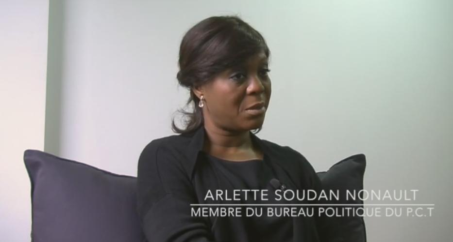 Madame Arlette Soudan Nonault est membre du bureau politique du PCT, le parti au pouvoir au Congo-Brazzaville.