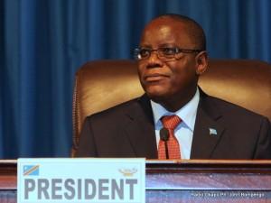 Aubin Minaku,  président  de l'Assemblée nationale congolaise