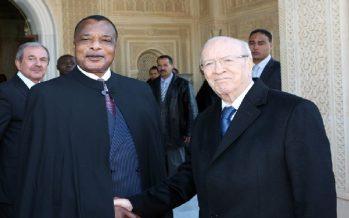 VIDÉO – Béji Caïd Essebsi reçoit le président congolais Denis Sassou-Nguesso