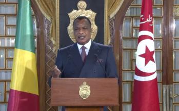 VIDÉO – A Tunis le président Denis Sassou-N'guesso face à la presse