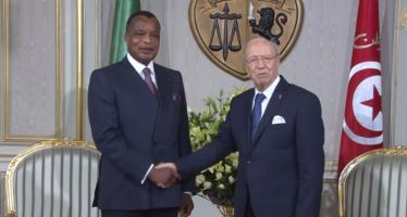 Denis Sassou-Nguesso en visite chez Caïd Essebsi à Tunis