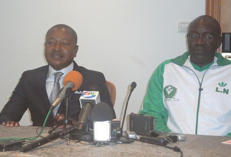 Lamine N'Diaye et Rémy Ayayos lors de la conférence de presse crédit photo Adiac