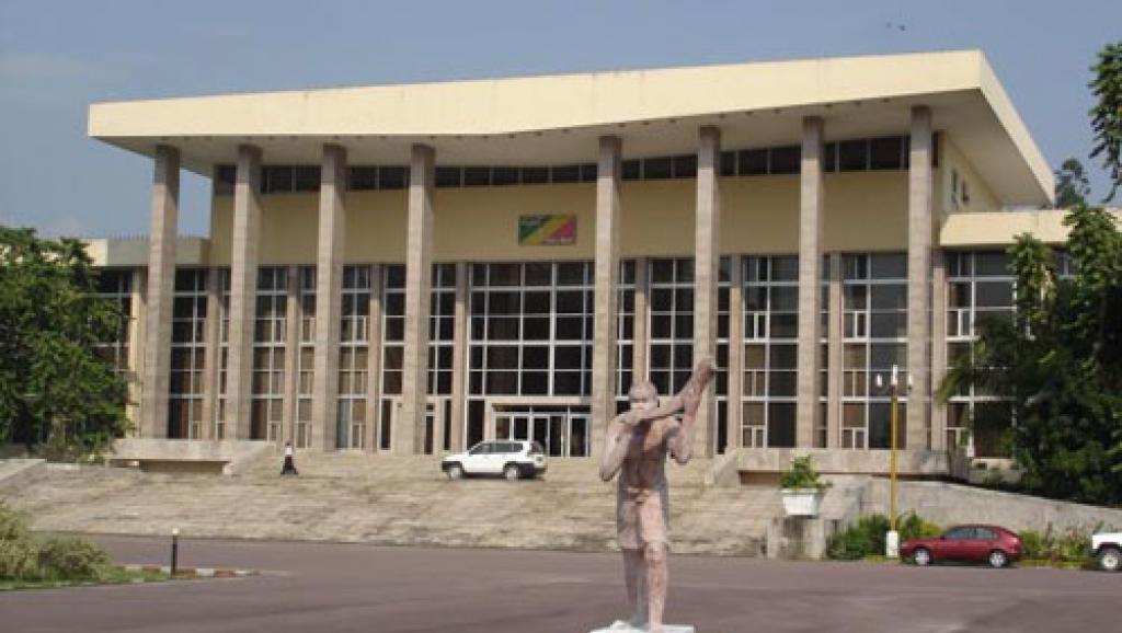 Vue extérieure du palais du Parlement du Congo-Brazzaville