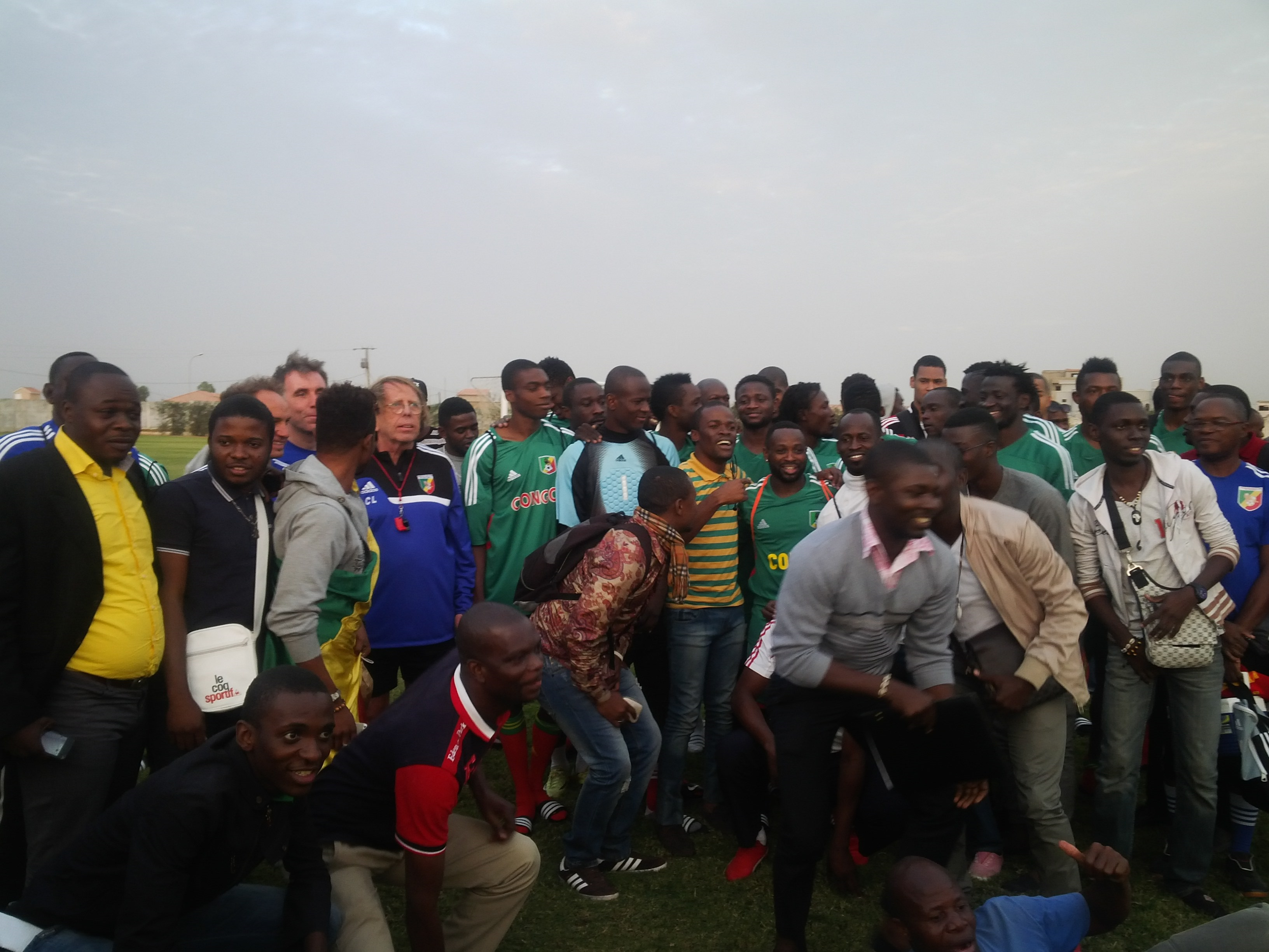 les Diables rouges à la rencontre de la communauté congolaise de Dakar