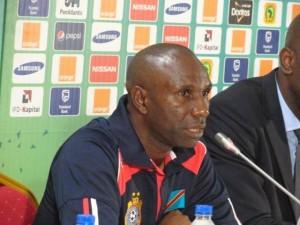 Le sélectionneur de l'équipe de football de RDC, Florent Ibengé