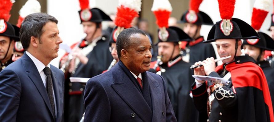 VIDÉO ITALIE – Matteo Renzi, Premier ministre italien reçoit, le Président Sassou N'guesso