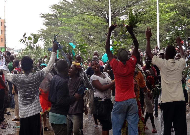 Des manifestants à Bujumbura