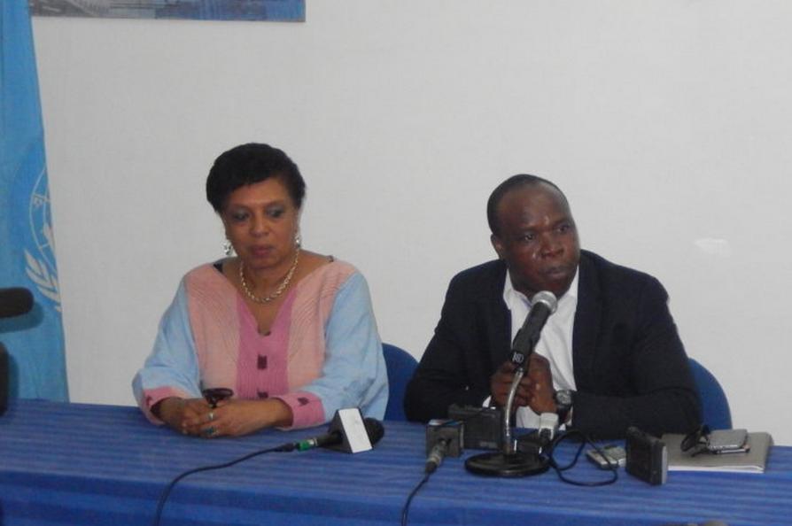 la représentante de l'Unesco au Congo et Asalfo lors de la conférence de presse