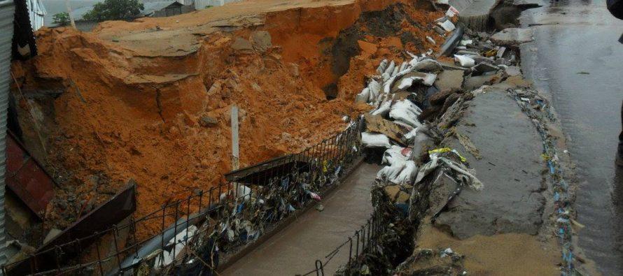 Brazzaville : des dégâts matériels occasionnés par la pluie à Ngamakosso