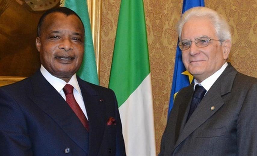 Denis Sassou Nguesso et Sergio Mattarella