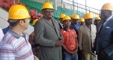 Brazzaville :  Le stade Alphonse-Massamba-Débat en phase de réhabilitation