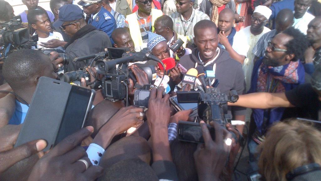 Les militants du mouvement Y en a marre de retour à Dakar, le 19 mars 2015| RFI