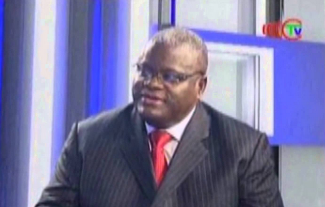Jean-Pierre Manoukou Kouba, membre du bureau politique du PCT (Capture d'écran) Télé-Congo