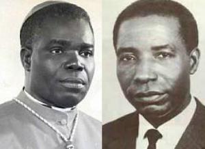 le cardinal Émile Biayenda et le président Alphonse Massamba-Débat