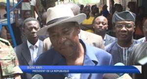 Le président du Bénin Thomas Boni Yayi