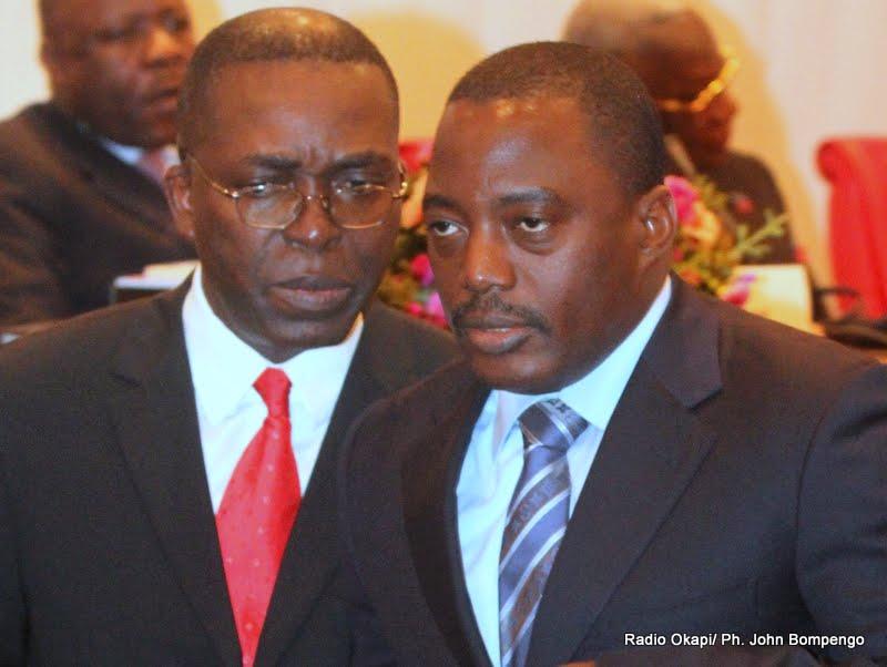 De gauche à droite, Le Président Joseph Kabila Kabange et Le Premier ministre Matata Ponyo Mapon