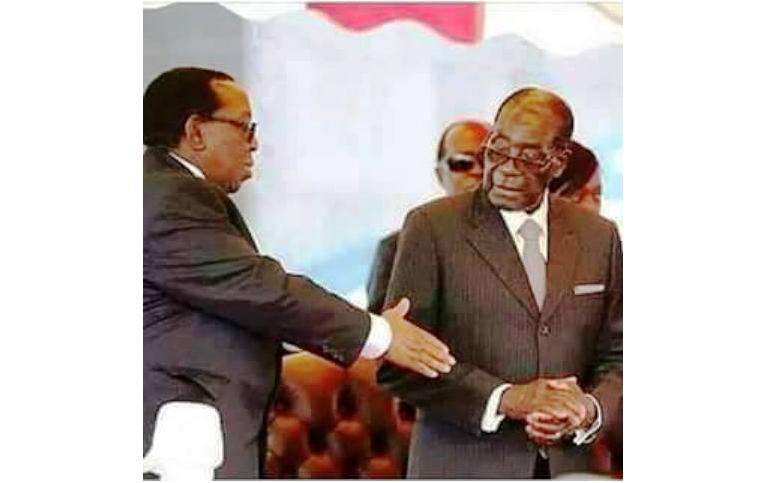 Robert Mugabe a refusé de serrer la main du roi Zulu Goodwill Zwelithini