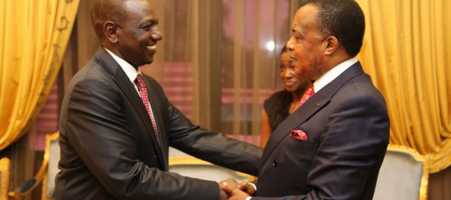 Congo : Willian Ruto rend compte des accords de Nairobi à Denis Sassou N'Guesso