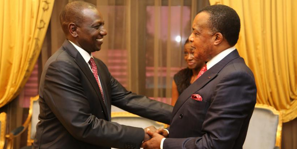 William Ruto reçu par Denis Sassou N'Guesso|© DR