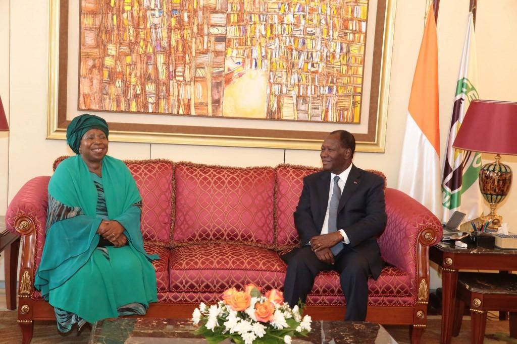 Alassane Ouattara et Nkosazana Dlamini-Zuma