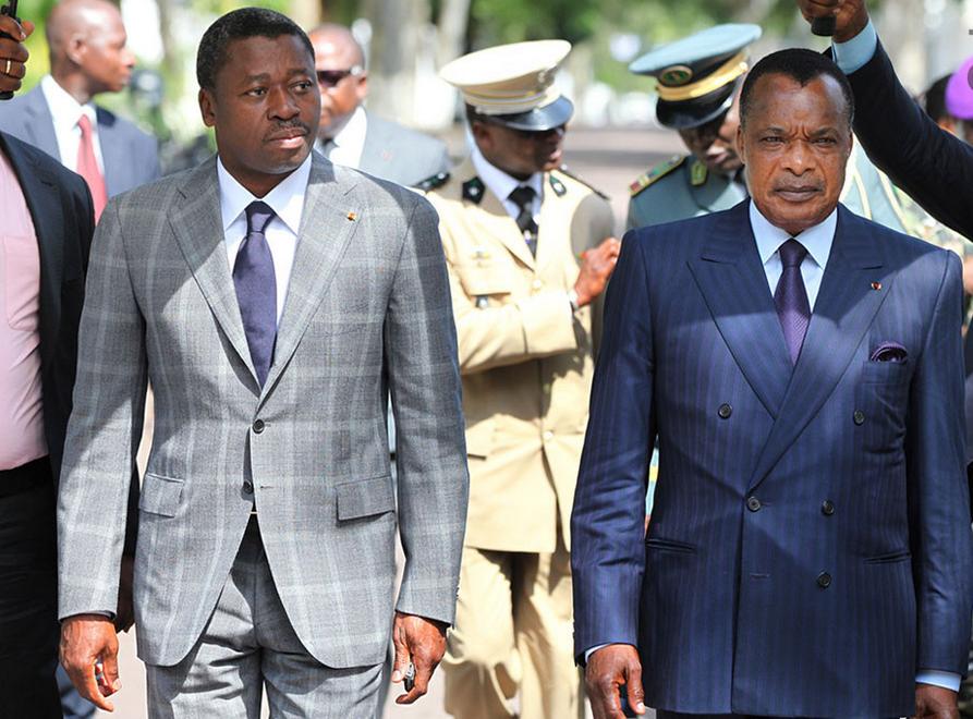 Faure Gnassingbe et Denis Sassou