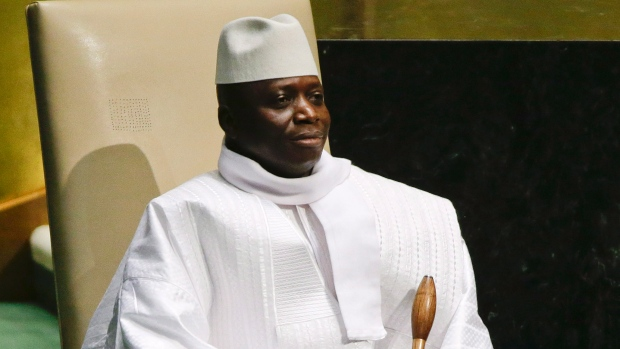 Le président gambien Yahya Jammeh