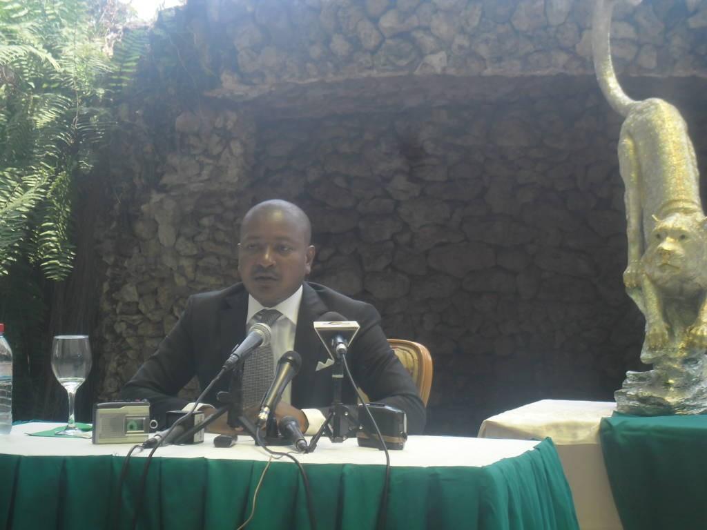 Le président de l'AC Léopards de Dolisie, Rémy Ayayos Ikounga
