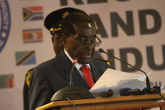 Le président Robert Mugabé