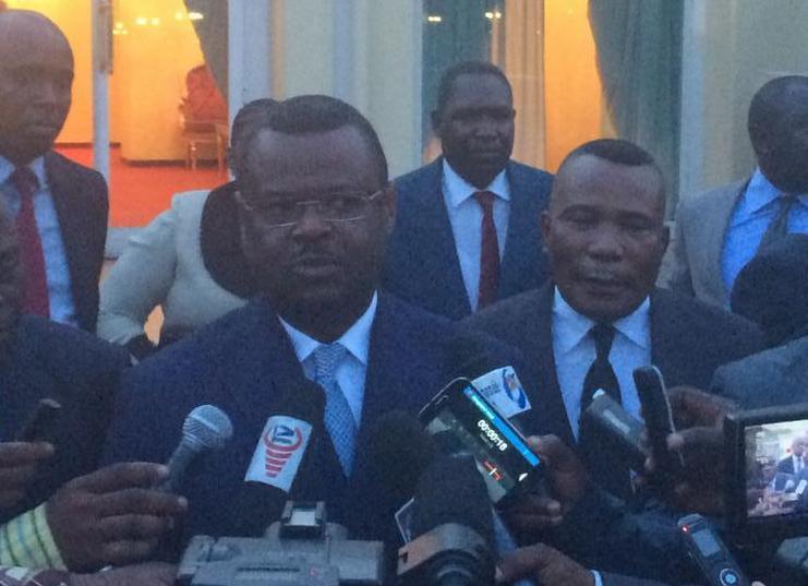 Rodrigue Ngouonimba, président de l'Union des forces démocratiques (UFD)