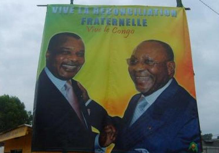 Image d'archive|Sassou N'Guesso et Joachim Yhombi Opango