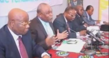 VIDÉO – Brazzaville : Conférence de Presse de l'opposition Congolaise du 16 Mai 2015