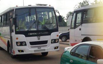 En Images – Les autobus de la S.t.p.u circulent enfin dans les rues de Brazzaville