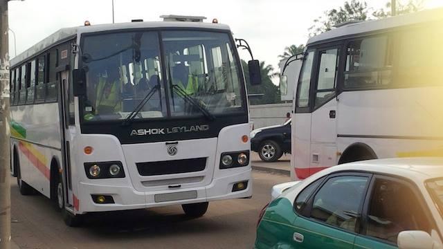 Les autobus de la S.t.p.u circulent enfin dans les rues de Brazzaville