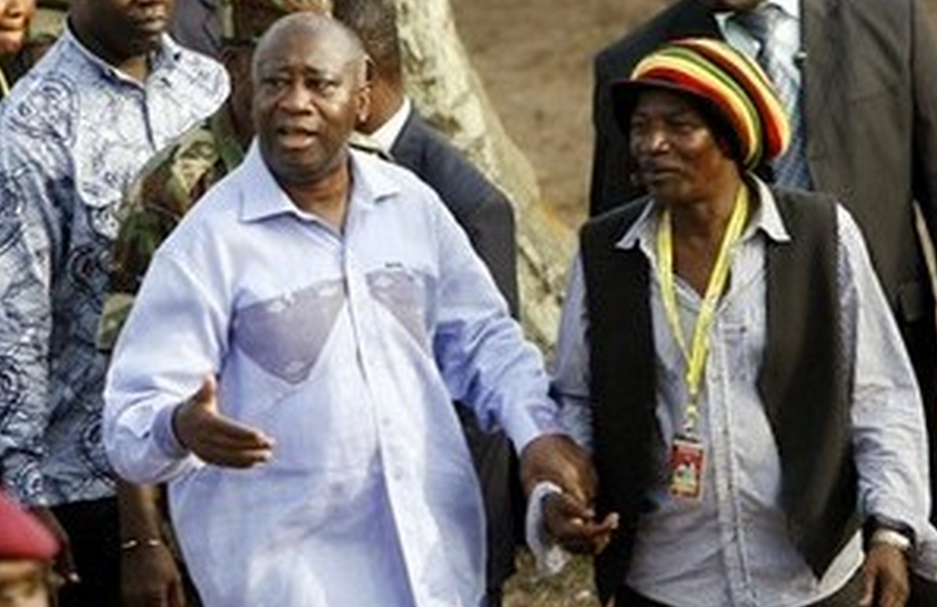 Alpha Blondy et Laurent Gbagbo