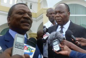 Kignoumbi Kia Mboungou et Clément Mouamba