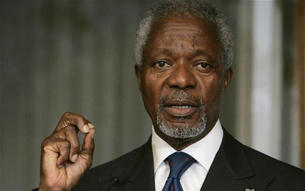 Kofi Annan, l'ancien secrétaire général de l'Organisation des Nations Unies (ONU)