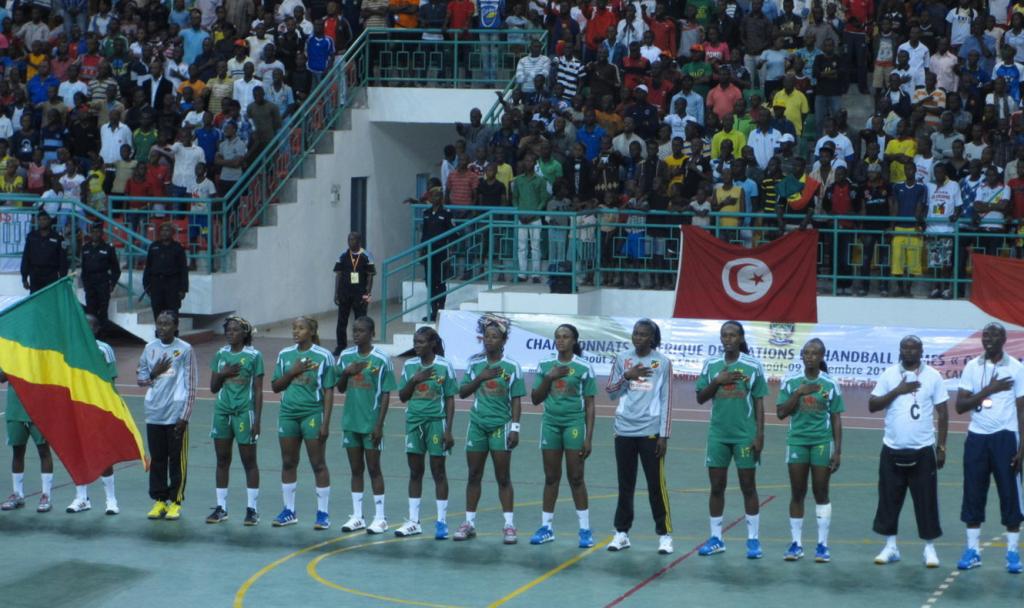L'équipe nationale congolaise de handball dames, les Diables Rouges du Congo