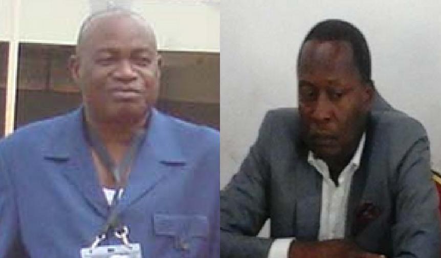 Le premier vice-président de la Fecofoot, Jean Guy Blaise Mayolas et le secrétaire général de la structure, Badji Mombo Wantété