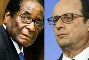 Mugabe et Hollande