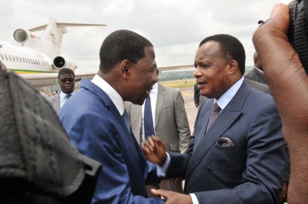 e président congolais, Denis Sassou N'Guesso et le président du Bénin, Yayi Boni|Image d'archive