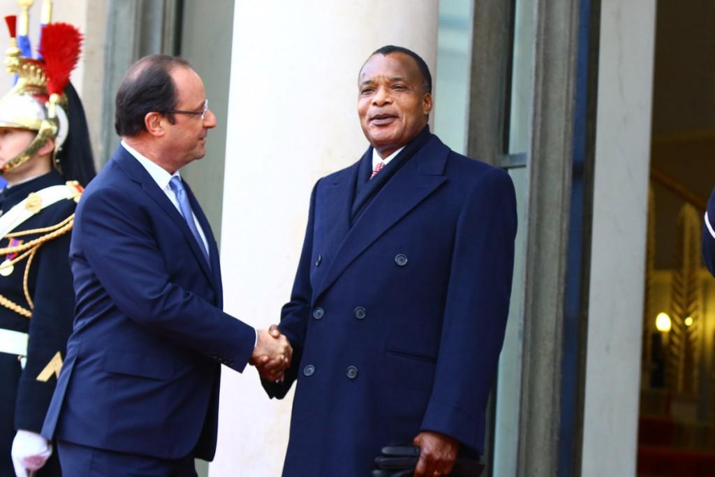 Sassou et Hollande